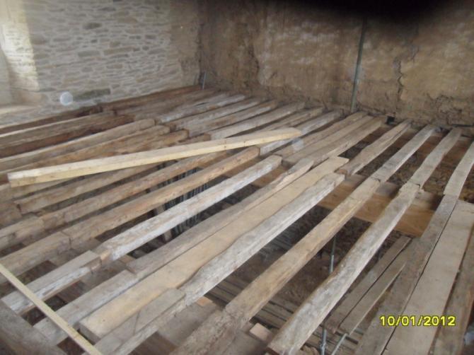 Charpente et plancher en chêne (suite)