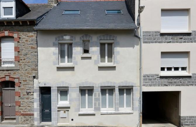 Façade maison St Michel St Brieuc