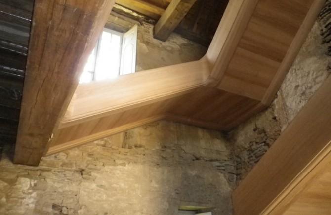 Château de Callac Escalier vu du dessous